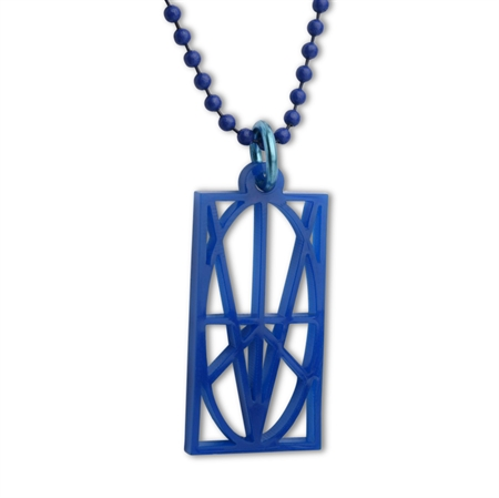 Picture of Men's Blue Acrylic Pendant