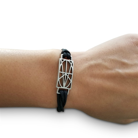 Picture of Women's Black Wrap & Tuck Bracelet - Small Zymbol
