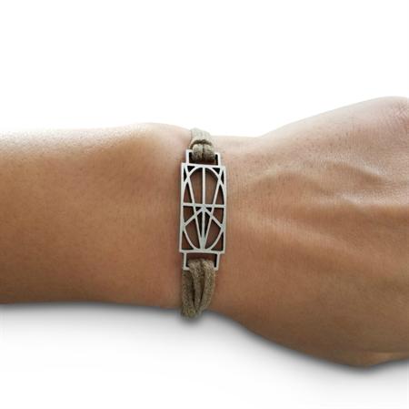 Picture of Women's Tan Wrap & Tuck Bracelet - Small Zymbol