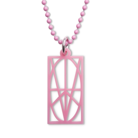 Picture of Women's Pink Acrylic Pendant